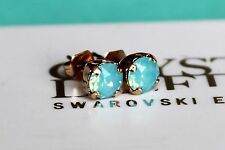 Rose Gold Plated Stud Earrings made with Pacific Opal Swarovski Crystal Elements