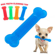 For Dog Toy Play Funny Pet Puppy Chew Teeth Training Flexible Rubber Bone Toys