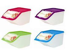 4 x erogatore di cereali scatola di immagazzinaggio del negozio cucina alimenti COPERCHIO CONTENITORE PASTA RISO