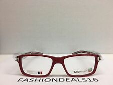 e5dec7bb99a New Tag Heuer w TAGS 7601 Track S Red Black TH7601 005 55mm Optical  Eyeglasses