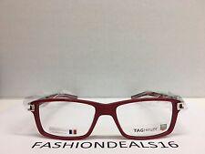 e5dec7bb99a New Tag Heuer w TAGS 7601 Track S Red Black TH7601 005 55mm Optical  Eyeglasses