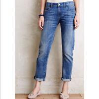 Anthropologie Pilcro And The Letterpress Hyphen Boyfriend Jeans Cotton Size 25