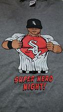 CHICAGO WHITE SOX MEDIUM T-SHIRT SGA SUPER HERO NIGHT 8-24 Free Shipping