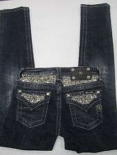 NWOT Miss Me Girls JK623GS Skinny Dark Blue Wash Flap Pocket Size 10 x 27