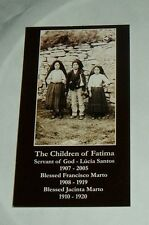 10- CHILDREN OF FATIMA Lam Holy Cards NEW LUCIA FRANCISCO JACINTA MARY