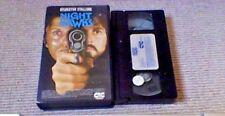 NIGHT HAWKS CIC UK VHS PAL PRE CERT VIDEO 1981 Stallone Rutger Hauer UNCUT