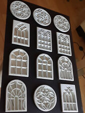 Decorative Wall Mirrors, Set of 12 White Decorative Wall Mirrors