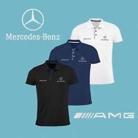 Mercedes Benz AMG Slim Polo T Shirt GESTICKTE Auto Logo Herren Kleidung Hemd
