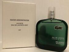 Eau De Lacoste Vert By Lacoste For Men 3.4oz Tester Box.