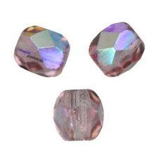 50 Perles Facettes de boheme 4mm - LIGHT AMETHYSTE AB