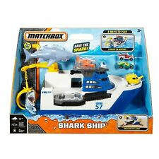 Shark Ship Mission Playset Mega Rig Floats Water Roll Land Mission Marine Rescue