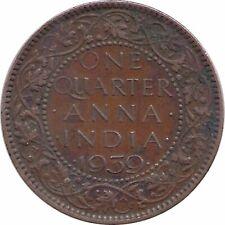 India-british One Quarter Anna, 1939 Free Shipping