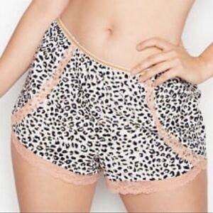Victorias secret sleep lounge shorts leopard print XS extra small NWT NEW