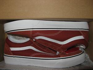 Vans Old Skool Mens Skate Skateboard Shoes Suede Canvas Picante Dark Rust Red