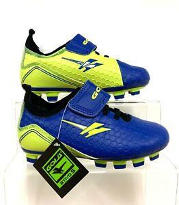 Gola Boy's Apex Blade Touch fasten Blue Volt Football Boots UK 9 EURO 27 *SALE*