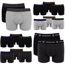 BRUBAKER 6er Pack Herren Retro Boxershorts Trunk Baumwolle Unterwäsche Set