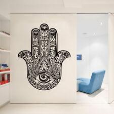 Wall Decals Hamsa Fatima Hand Eye Yoga Decor Indian Buddha Wall Stickers Vinyl