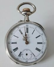 Montre Gousset Ancienne argent massif  Vintage  solid silver pocket watch.