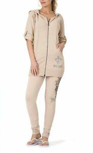 BCBG MAXAZRIA, Cross Crest Hoodie & Skinny Pant Set BC13570J/P Ginger