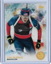 SUPER RARE 2014 TOPPS OLYMPIC TIM BURKE GOLD RAINBOW CARD #12 ~ BIATHLON