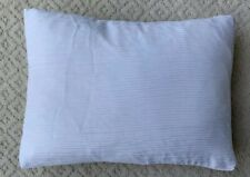 Calvin Klein 12x16 Decorative White Ribbed Slip Cover + Down Pillow Insert