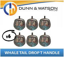Recessed Folding T Lock / Handle (Trailer Caravan, Toolbox) Drop T Whale Tail x6
