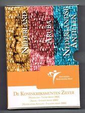 SET KONINKRIJKSMUNTEN 2004 ZILVER NEDERLAND, ANTILLEN EN ARUBA IN BLISTER proof