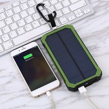 300000mAh Power Bank Waterproof Portable Solar Charger Dual USB Lamp Battery DP