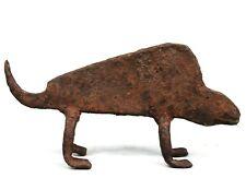 Art Africain African Arte - Ancien Caméléon en Fer Forgé Lobi - Iron Item 12 Cms