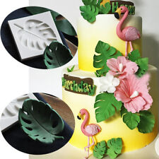 Silicone Monstera Leaves Fondant Mold Cake Plant Leaf Chocolate Baking DIY Mould