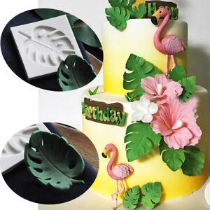 Silicone Monstera Leaves Fondant Mold Cake Plant Leaf Chocolate Baking DIY Mould