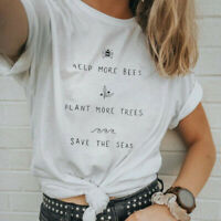 Help the Bee Shirt, Help More Bees Plant More Trees Clean The Sea Summer T-shirt