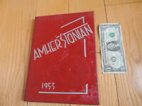 OLD 1953 AMHERST Ohio HIGH SCHOOL YEAR BOOK AMHERSTONIAN STUDENTS free shipping