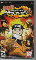 Naruto Ultimate Ninja Heroes PSP Game with Manual Video Game