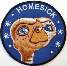 "ET Alien Homesick Embroidered Quality Iron On Patch 3.5"" Space UFO Movie E.T"