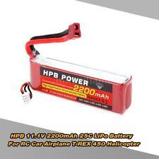 HPB 11.1V 2200mAh 25C MAX 35C 3S T Plug Li-po Battery for RC Model Free Ship