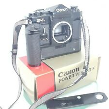 Canon F-1 w/ Motor Drive F 35mm SLR Film Camera with winder TESTED  #483