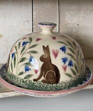 Bell Pottery Spongeware Butter Dish