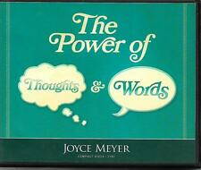 THE POWER OF THOUGHTS & WORDS          4 CDs           Joyce Meyer
