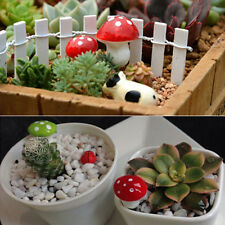 20PCS Mini Red Mushroom Miniature Plant Pots Garden Ornament DIY Dollhouse Decor