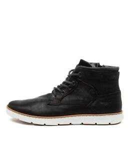 New Wild Rhino Napier Rust Leather Mens Shoes Casual Boots Ankle