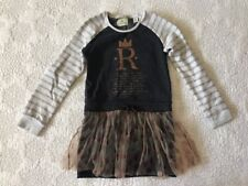 Scotch R'Belle Sz 128 US8 (7) Sweater Dress with Tulle Skirt EUC