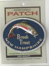 Brook Trout New Hampshire Souvenir Patch  NH 009