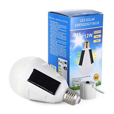 Portable 12W Solar Panel Powered LED Bulb Light Emergency Lamp Camping lights ES