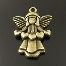 50pcs Vintage Bronze Alloy Cute Fly Angel Sweetheart Pendant Charms 35892