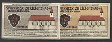 German NOTGELD LILIENTHAL #L780c Complete Set of 2 UNC RETAIL = $20+