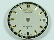 New Dial for SEIKO WORLD TIME 6217 Navigator Timer 6117 Watch BLACK