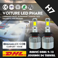 2× H7 110W 20000LM Avant Phare LED Ampoule Headlight Kit 6000K Voiture Feux Fog
