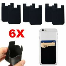 6X Phone Stick On Credit Card Cash Holder Wallet Pouch Adhesive for Mobile Phone