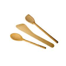Russel Set of 3 Beechwood Utensils Cooking Prep Utensil Spatula Wooden Spoon
